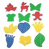 Dcolor12pzas ninos educativos de roscado juguetes diferentes formas w / cuerdas