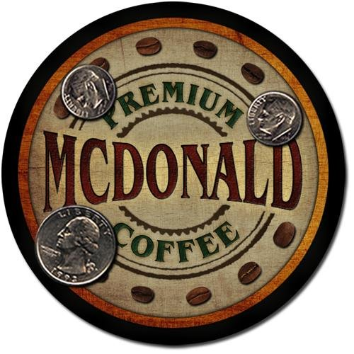 Mcdonald Family Name Coffee Drink Coasters - 4 Pack
