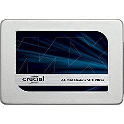 Crucial MX300 525GB Interne Festplatte SATA (7mm (mit 9,5mm-Adapter), 2,5Zoll) silver