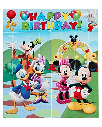American Greetings 5-Piece Set Mickey Scene Setter, Multicolored (Mickey Mouse Theme Party Supplies compare prices)