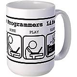 CafePress Unique The programmers life Mug Large Mug - Standard