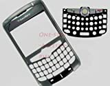 –New RIM BlackBerry Curve 8300 8310 8320 Original OEM Faceplate with Lens, Trackball & Keyboard Titanium Color Front Cover Face Plate Case Part AT&T T-Mobile GSM Phones Plus Tool Kit T5 Screw Driver & Opener