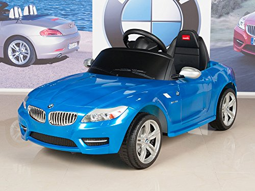 kids ride on car bmw z4 6v battery powered wheels with remote mat and keychain blue