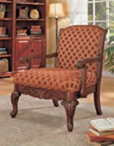 Hot Sale Coaster Traditional Decorative Chenille Fabric Accent Arm Chair