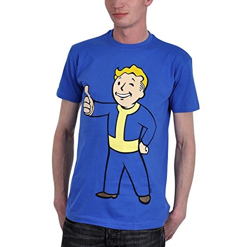 Level Up Wear Vault Boy Thumbs Up-T-shirt Uomo,    blu m