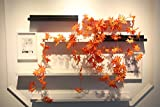 98 Inch Red Maple Ivy Artificial Greenery Chain Plant Garland Leaves Wall Decoration For Wedding Home Indoor Garden Garland outside Set of 5
