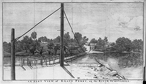 East View of Gray's Ferry on Schuylkill River in Philadelphia, Pennsylvania, 1787
