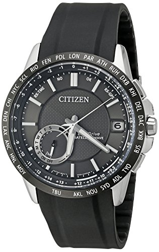 Citizen Men's CC3005-00E Satellite Wave Analog Display Japanese Quartz Black Watch