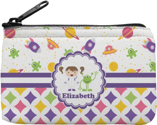 Girl'S Space & Geometric Print Personalized Rectangular Coin Purse front-640622