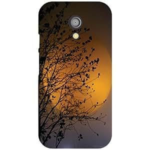 Motorola Moto G (2nd Gen) Back Cover - Orangish Designer Cases