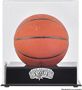 Mounted Memories San Antonio Spurs Mini Basketball Display Case