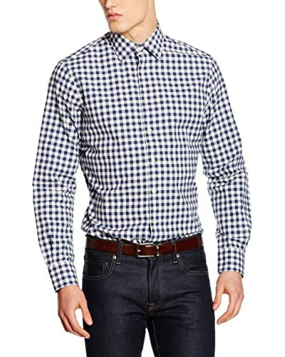 Hackett London Camisa Hombre Vintage Gingham Azul Oscuro