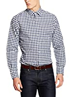 Hackett London Camisa Hombre Vintage Gingham (Azul Oscuro)