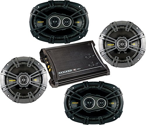 Bundle Of 3 Items: 4-Ch Amplifier With Two Pairs Of Speakers