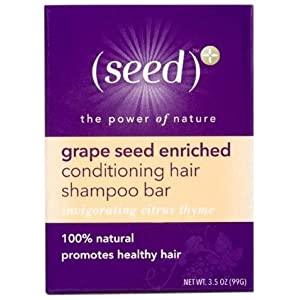 (seed)+ Conditioning Hair Shampoo Bar, Invigorating Citrus Thyme, 3.5-Ounce Boxes (Pack of 6)