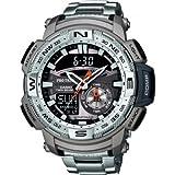 Casio PRG280D7ER Mens Gents Pro Trek Dual Compass/Temperature Five Alarms Bracelet Wrist Watch