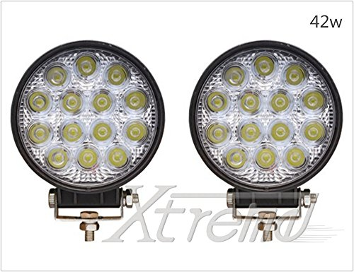 "Xtreme® 2 Pack 4.5"" Inch 42Watt High Power Led Work Lamp Offroad Light For Truck, 4Wd, Atv, Utv, Bike, Motorcycle (42W Round, Spot Light)"