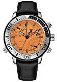 Tx T3c447 Gents Chronograph Black Leather Strap Watch