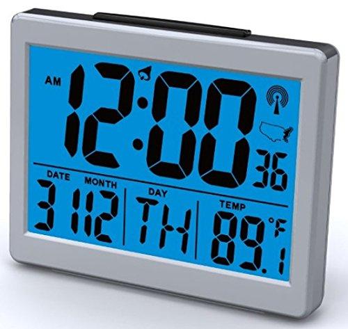 Atomic Desk/bedroom Alarm Clock-1.5 Time Number, Back Blue Light