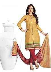 Venisa Pure Cambric Cotton Olive Color Salwar Suit Dress Material