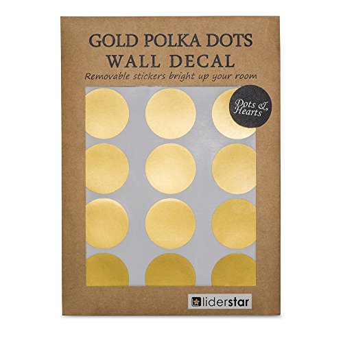 gold-wall-decal-210-dots-8-heart-decals-removable-metallic-vinyl-polka-dot-decor-round-circle-art-gl