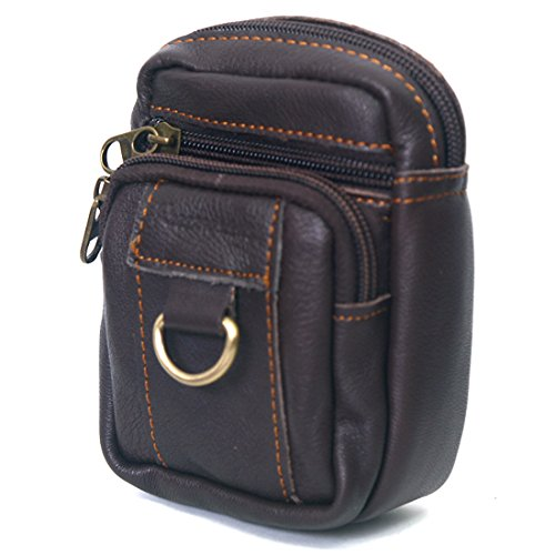 06. New Mini Men's Leather Waist Belt Loops Bag Coin Pocket Cigarette Case Wallet 0988a