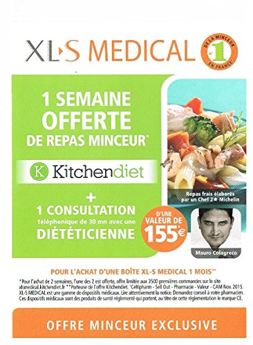 XLS Medical 180 Compresse + Offre Promo kitchendiet 1 Settimana di pasto offerta