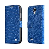 Samsung Galaxy S4 Mobile Phone Case by Megix Premium PU Leather Luxury Wallet Style with Stand Up Design
