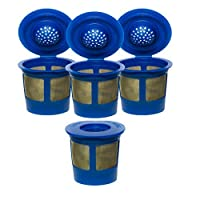 4X Premium Gold Tone Reusable Single Cup Keurig Solo Filter Pod Coffee