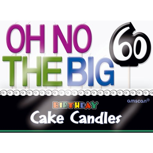 Oh No.. 60 Cake Candles Wax (11 per package) - 1