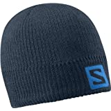 Salomon Mens Logo Beanie, Big Blue by Salomon