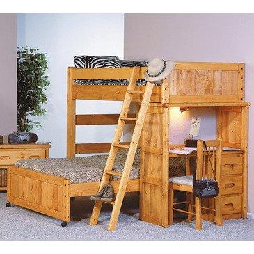 Loft Bed Over Desk 1452 front