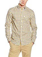 Ben Sherman Camisa Hombre Ls House Gingham (Amarillo / Azul)