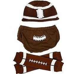 juDanzy baby boys gift box cabbie hat set (Newborn, Football)