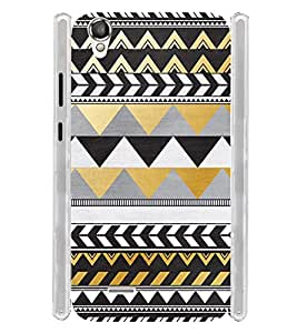 Pattern Tribal Art Brown Soft Silicon Rubberized Back Case Cover for Xolo A550S IPS