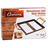 Himalayan Salt Block Holder & Wire Cleaning Brush- Safe & Easy Salt Slab Plate and Grilling Stone Cooking
