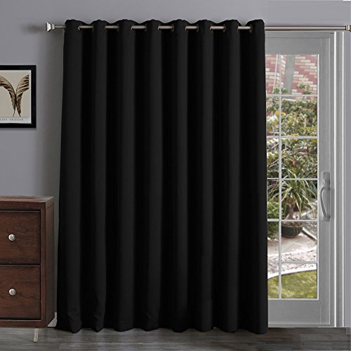 Thermal Insulated Blackout Curtains Panel Sliding Glass Patio Doors Grommet Ring Ebay