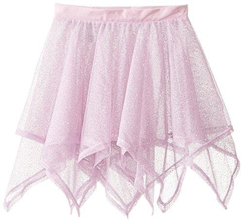 Danskin Big Girls' Iridescent Handkerchief Skirt, Lavender, Medium/Large