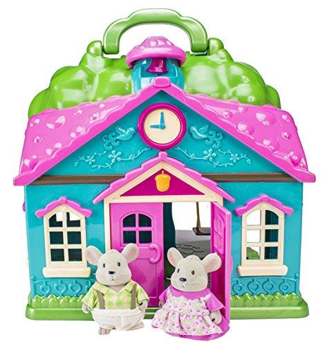 Li'l Woodzeez Cottage Playset & Mice Family Set with Storybook (Lil Woodzeez Treehouse compare prices)