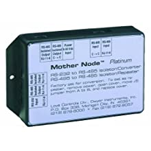 Dwyer Mother Node Series 350 Communication Signal Converter, Silver RS-232 to RS-485, DB9F Connector