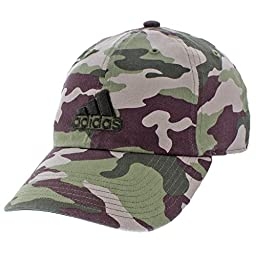 adidas Mens Ultimate Relaxed Cap, Base Green/Black/Camo Print, One Size