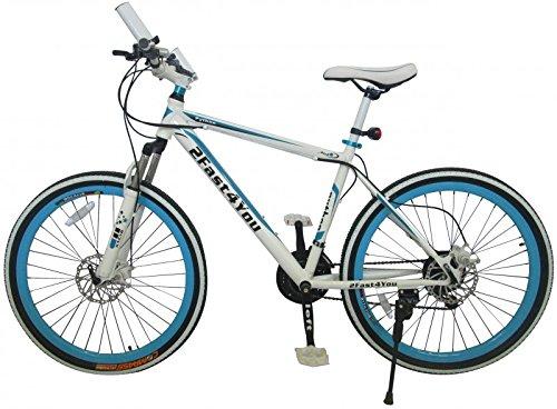 26' Zoll Hardtail Mountainbike MTB Fahrrad Python von 2Fast4You, Farben:weiß-blau