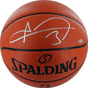 Buy NBA Houston Rockets Omer Asik Autographed Basketball, Brown by Steiner Sports