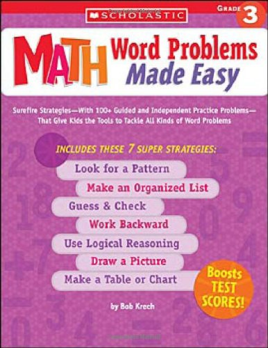 Viewing Mathematics Books  of Math Word Problems Made Easy: Grade 3by Bob Krech (May 1, 2005)