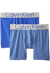 Calvin Klein Men's 2 Pack Steel Micro Boxer Brief