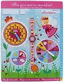 Baby Watch - Abc Magique - Montre Fille - Quartz Pédagogique 3-6 ans - Cadran Bleu - Bracelet Plastique Rose