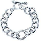 Super Drool Silver Alloy Charm Bracelet