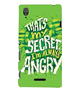 QUOTE DEPICTING THE ATTITUDE 3D Hard Polycarbonate Designer Back Case Cover for Sony Xperia T3