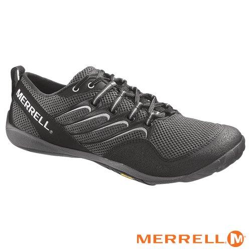 Merrell Mens Trail Glove Black/Granite Running Shoes