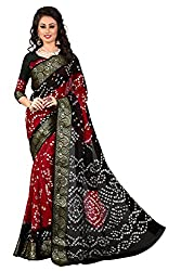 Charming Red Bandhani Saree
